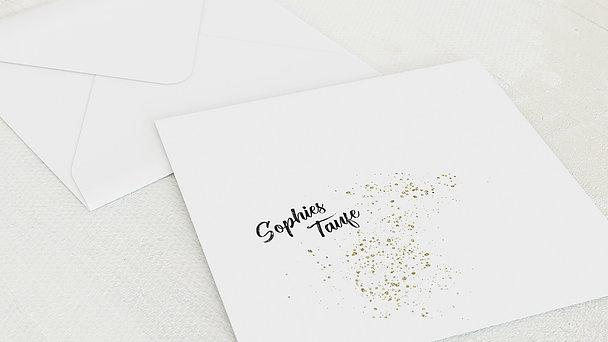 Umschlag mit Design Taufe - Zimt und Sterne