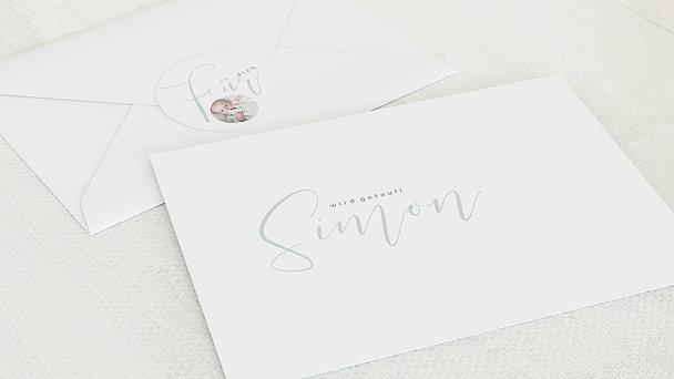 Umschlag mit Design Taufe - Zartes Kreuz