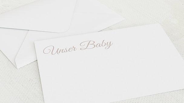 Umschlag mit Design  Baby - Babycollage