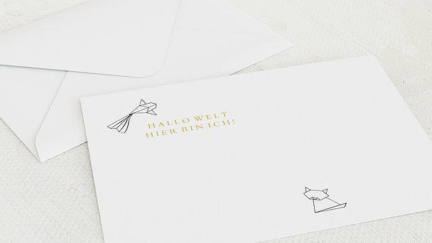 Umschlag mit Design  Baby - Origami