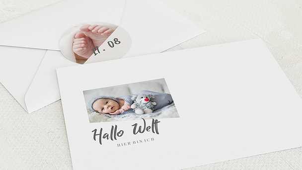 Umschlag mit Design  Baby - Erdenbürger