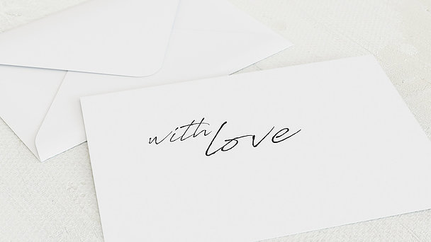Umschlag mit Design  Baby - Erfülltes Herz