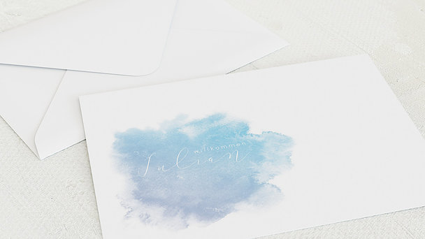Umschlag mit Design  Baby - Herzpfade