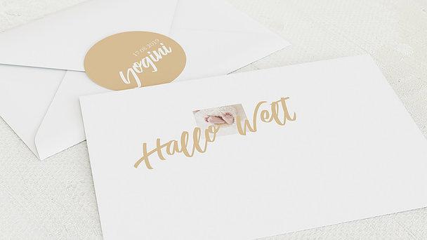 Umschlag mit Design  Baby - Zarter Gruß