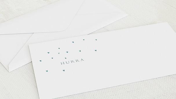 Umschlag mit Design  Baby - Herzlein