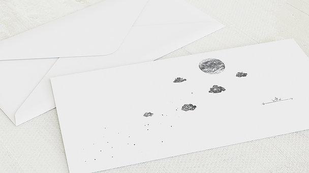 Umschlag mit Design  Baby - Mondschein