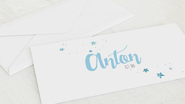 Umschlag mit Design  Baby - Abendstern