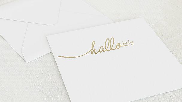 Umschlag mit Design  Baby - Hallo Baby