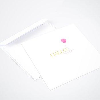 Umschlag mit Design  Baby - Aquarell-Ballon