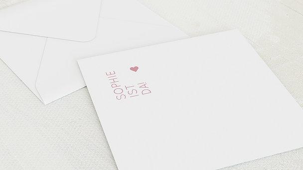Umschlag mit Design  Baby - Reines Herz