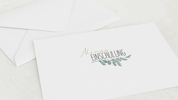 Umschlag mit Design Einschulung - Meine Zeremonie