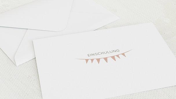 Umschlag mit Design Einschulung - Freudige Fähnchen