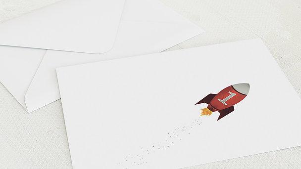 Umschlag mit Design Einschulung - Rakete
