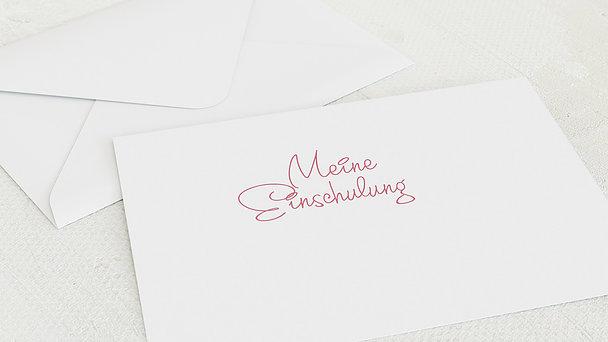Umschlag mit Design Einschulung - So schnell groß