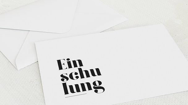 Umschlag mit Design Einschulung - Das große Ereignis Einschulung