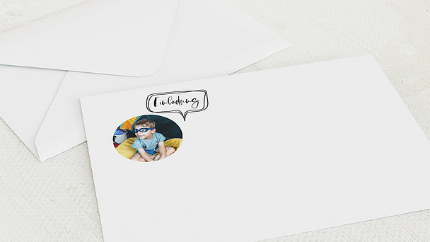 Umschlag mit Design Einschulung - Schlampermäppchen