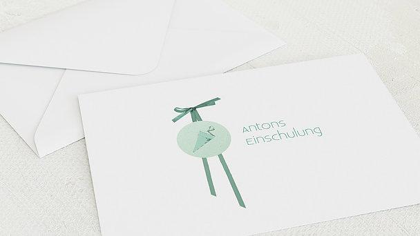 Umschlag mit Design Einschulung - Kraftvoll Einschulung