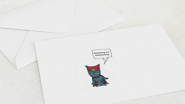 Umschlag mit Design Einschulung - Unser Superheld