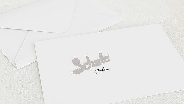 Umschlag mit Design Einschulung - Farbspritzer