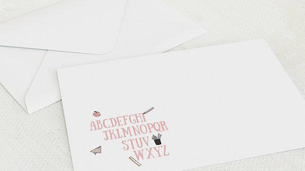 Umschlag mit Design Einschulung - Buchstabenspiel
