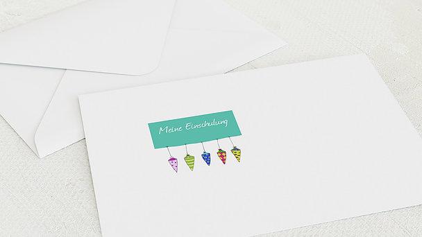 Umschlag mit Design Einschulung - Schultüte