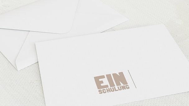 Umschlag mit Design Einschulung - Fototext Einschulung