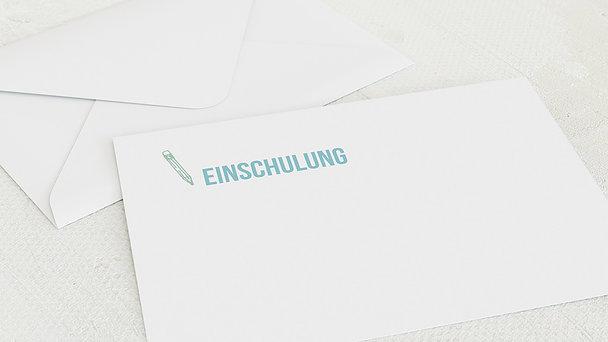Umschlag mit Design Einschulung - Hausaufgaben