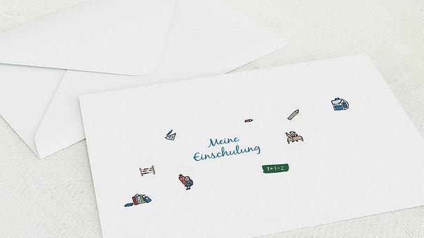 Umschlag mit Design Einschulung - Das große ABC