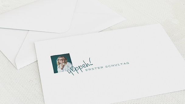 Umschlag mit Design Einschulung - Wissbegierig