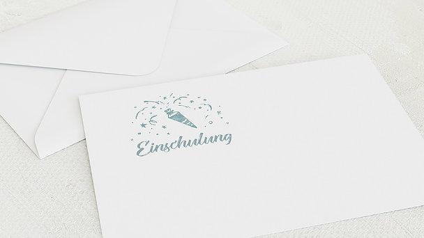 Umschlag mit Design Einschulung - Ankündigung