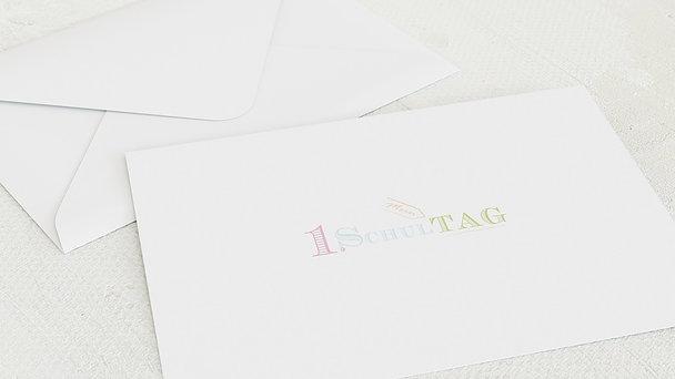 Umschlag mit Design Einschulung - Tafelzierde
