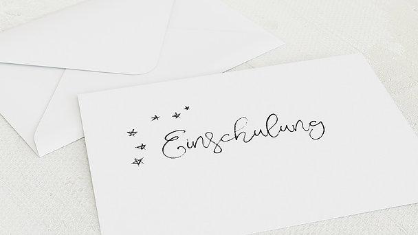 Umschlag mit Design Einschulung - Kreidezeit