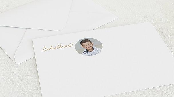 Umschlag mit Design Einschulung - Von klein zu groß
