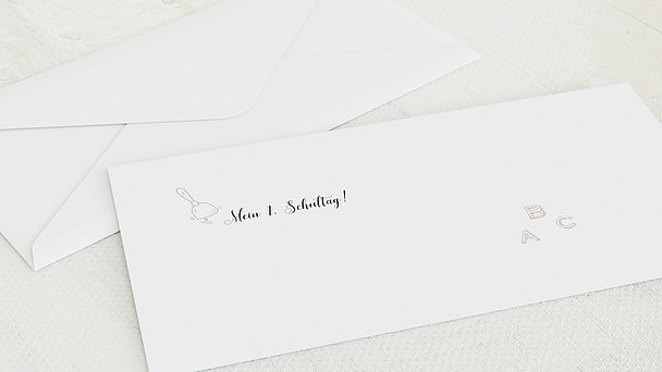 Umschlag mit Design Einschulung - ABC-Geschichten