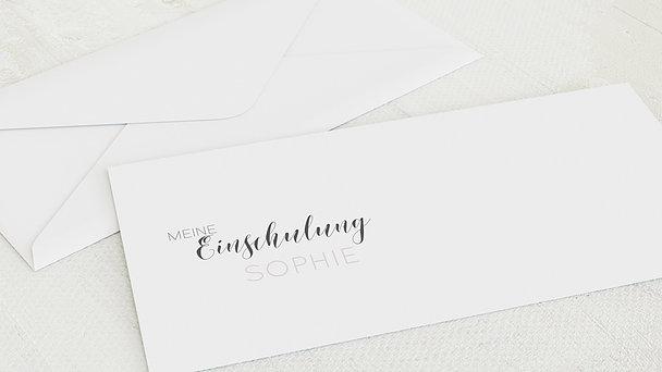 Umschlag mit Design Einschulung - Jetzt geht's los