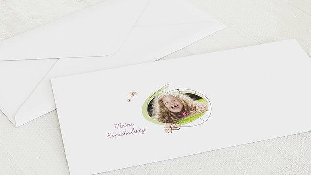 Umschlag mit Design Einschulung - Freche Mädchen