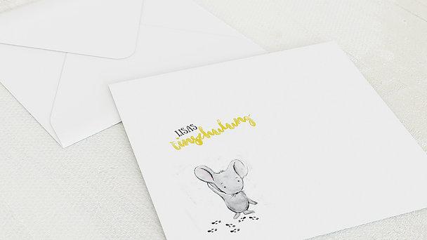 Umschlag mit Design Einschulung - Schlaue Maus