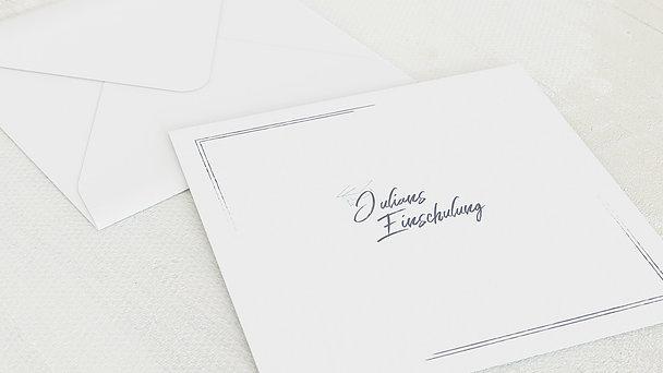 Umschlag mit Design Einschulung - Tafelglanz
