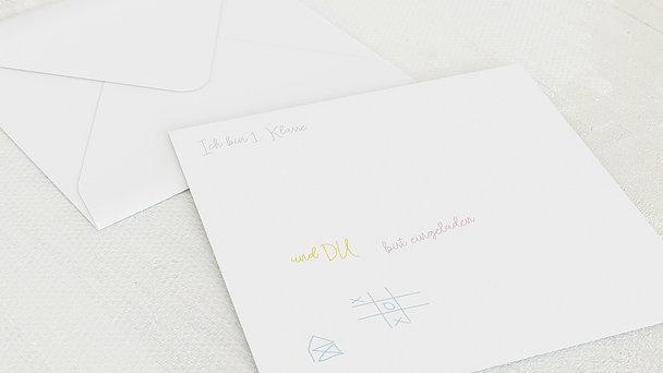 Umschlag mit Design Einschulung - Tafelspaß