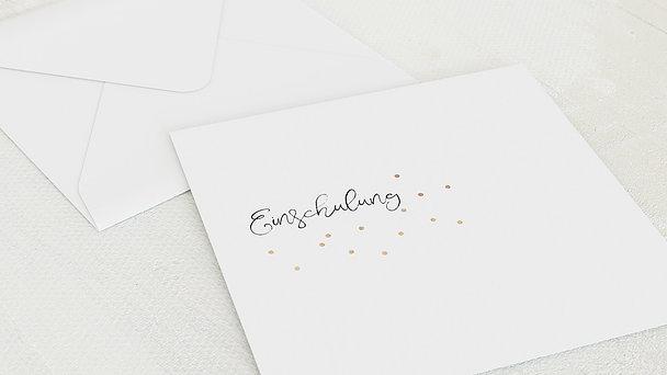 Umschlag mit Design Einschulung - Konfettifreude