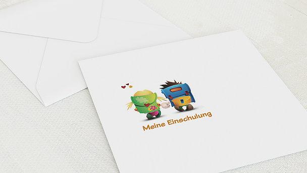 Umschlag mit Design Einschulung - Schulranzen