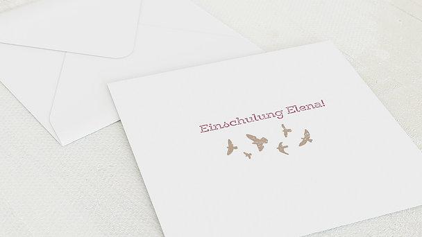 Umschlag mit Design Einschulung - Voller Freude