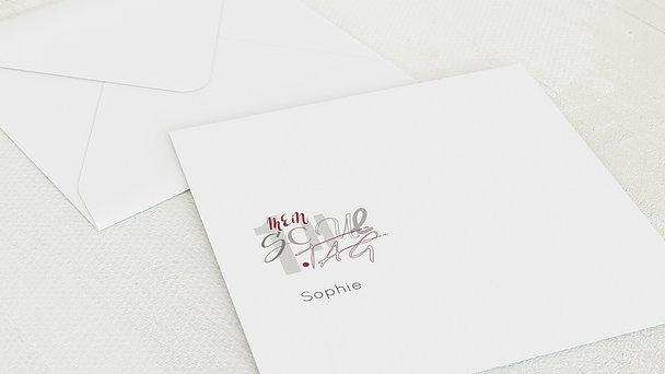Umschlag mit Design Einschulung - Schulschrift