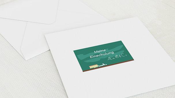 Umschlag mit Design Einschulung - Tafelkreide