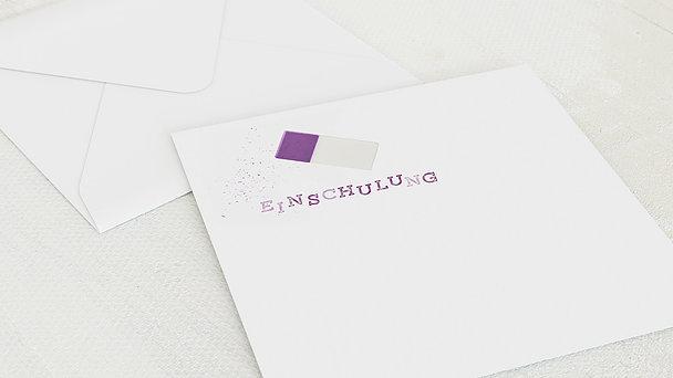 Umschlag mit Design Einschulung - Ausradiert