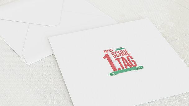 Umschlag mit Design Einschulung - Schule macht Spaß