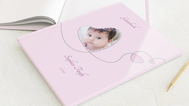 Gästebuch Taufe - Herzchen