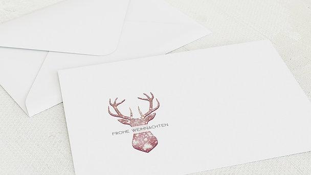 Umschlag mit Design Weihnachten - Festliches Rentier
