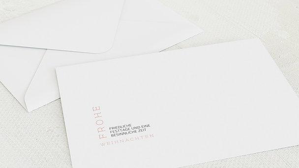 Umschlag mit Design Weihnachten - Schnee & Eis