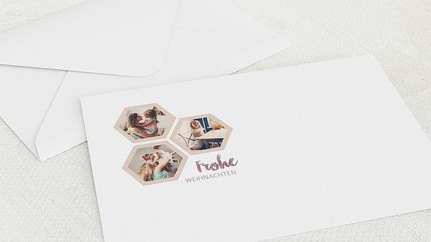 Umschlag mit Design Weihnachten - Weihnachtswaben